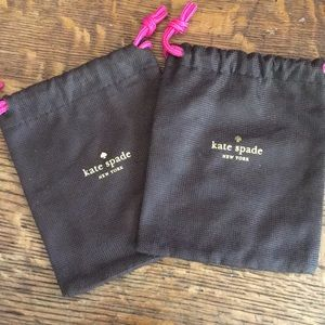 Two kate spade jewelry dust bags